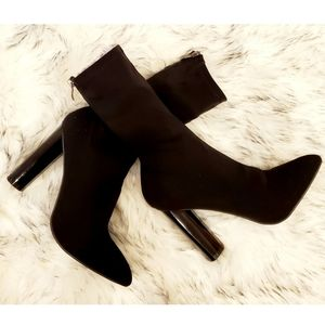 NEW- PUBLIC DESIGN SOCK ANKLE BOOTS